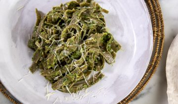 Pesto Soslu Organik Yeşil Mercimek Tagliatelle Corte